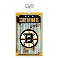 Boston Bruins Corrugated Metal Sign Ornament