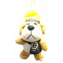 Boston Bruins 4 inch Plush Dog Ornament