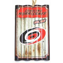 Carolina Hurricanes Corrugated Metal Sign Ornament
