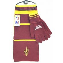 Cleveland Cavaliers Striped Scarf and Glove Set