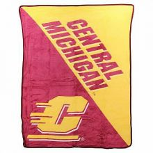 Central Michigan Super Plush Fleece Throw