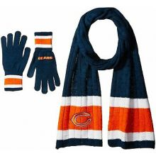 Chicago Bears Cold Weather Knit Scarf and Glove Set