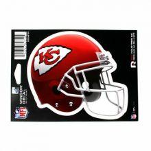 "Kansas City Chiefs 6"" Helmet Die-Cut Window Decal"