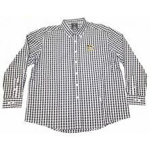 Missouri Tigers Long Sleeve Black Plaid Button Down Shirt 2XL