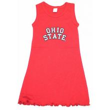 Ohio State Buckeyes Child  Embroidered Tank  Dress (2)