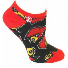Louisville Cardinals No Show Repeater Socks S/M
