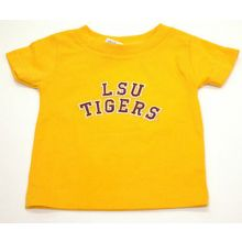 LSU Tigers Infant Gold Embroidered  Logo T-Shirt