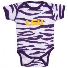 LSU Tigers Infant Animal Print Embroidered Bodysuit