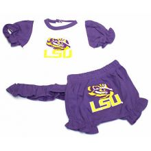 """LSU Tigers Infant Gold """"LSU"""" Dress and Diaper Cover"""