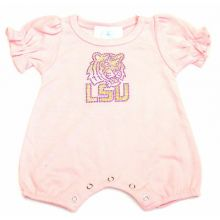 LSU Tigers Infant Pink Jeweled Logo Bodysuit