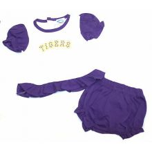 """LSU Tigers Infant Embroidered Polka Dot """"Tigers""""  Dress and Diaper Cover"""
