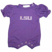 LSU Tigers Infant Purple Jeweled Logo Bodysuit