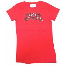 Ohio State Buckeyes Child Girls Twill Logo T-Shirt (Small)