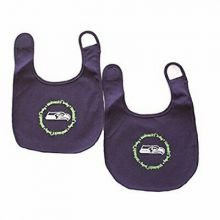 NFL Officially Licensed lined 2-Pack Baby Bib (Seattle Seahawks)