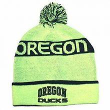 NCAA Licensed Oregon Ducks Neon Green Cuffed Emboidered Logo Beanie