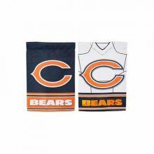 "Chicago Bears Outdoor Garden Foil Double Sided Flag 12.5"" x 18"""