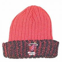 NCAA Officially Licensed Indiana Hoosiers White Stripe Cuffed Beanie Hat Cap Lid