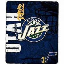 "NBA Officially Licensed Utah Jazz Side Bar 50""x60"" Fleece Throw Blanket"