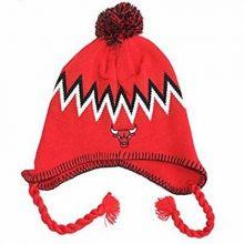 NBA Officially Licensed Chicago Bulls Red Logo Pom Tassel Beanie Hat Cap Lid Toq