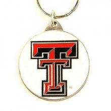 NCAA Officially Licensed Pewter Keychain Keyring (Texas Tech Raiders)