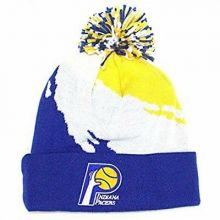 NBA Officially Licensed Indiana Pacers Mitchell & Ness Blue White Yellow Broken