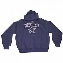 NFL Officially Licensed Dallas Cowboys YOUTH Navy Distressed Print Pullover Hood