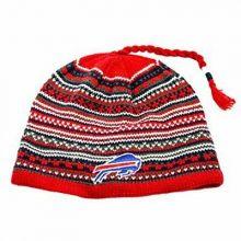 NFL Licensed Knit Tassel Beanie Hat Lid Cap (Buffalo Bills)