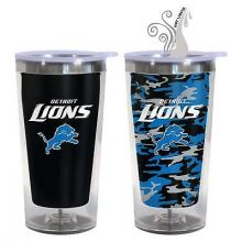 Detroit Lions 16-Ounce Color Change Tumbler with Lid