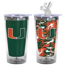 Miami Hurricanes 16-Ounce Color Change Tumbler with Lid