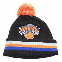 NBA Officially Licensed New York Knicks Mitchell & Ness Knit Black Striped Cuffe