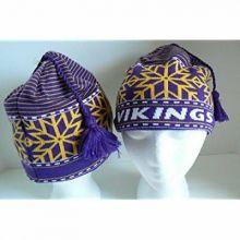 NFL Reebok Minnesota Vikings Tassel Beanie Hat Cap
