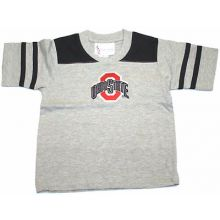 Ohio State Buckeyes Child Black and Gray V-Neck T-Shirt (4)