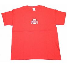 Ohio State Buckeyes Child Embroidered Red T-Shirt (Medium)