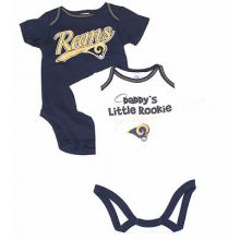 Los Angeles Rams Infant 2 Piece Bodysuit Set (18 Months)