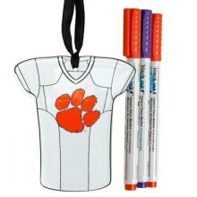 Clemson Tigers Personalizable Jersey Ornament with Team Color Markers