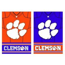 Clemson Tigers Double Sided Jersey Suede Garden Flag, 12.5 x 18 inches