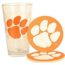 Clemson Tigers Pint and Coaster Set