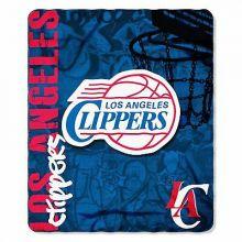 NBA LA Clippers Hardknocks Fleece Throw Blanket