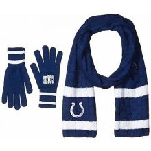 Indianapolis Colts Cold Weather Knit Scarf and Glove Set