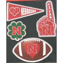 Nebraska Cornhuskers 4 Piece Magnet Set