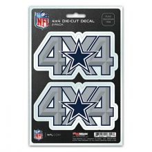 Dallas Cowboys 4 x 4 Die Cut Decal 2 pk.