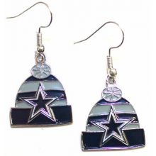 Dallas Cowboys Beanie Style Dangle Earrings