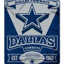 Dallas Cowboys Double Sided No Sew Fleece Blanket Kit