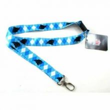 Carolina Panthers Argyle Quick Release Lanyard Keychain
