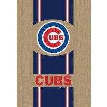 "Chicago Cubs Burlap Vertical House Flag 28"" x 44"""