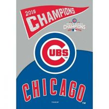 "Chicago Cubs Double Sided Suede Glitter  2016 Champions 29"" x 43"" Vertical House"