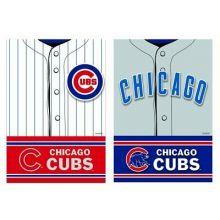 Chicago Cubs 2 Sided Suede Foil Garden Flag