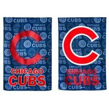 "Chicago Cubs Double Sided Suede Glitter Vertical House Flag 29"" x 43"""