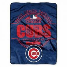 """Chicago Cubs 46"""" x 60""""  Micro Raschel Throw Blanket"""