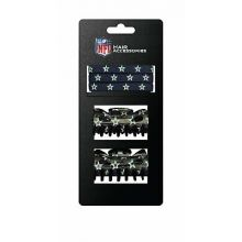 Dallas Cowboys Hair Accessory 2-Hair Clips and 3-Elastic Ponytail Bands
